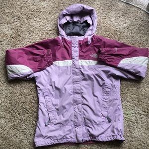 Girls north face hyVent raincoat